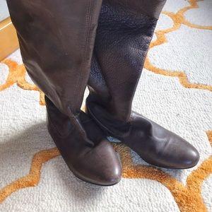 Brown TRF booties